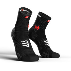 Compressport Pro Racing V3.0 Run High - Calcetines Running - negro